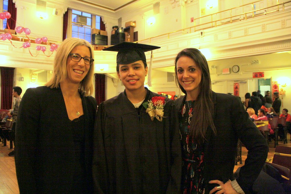 Left to right: Judge Lynn Kotler, Jessica Williams, Attorney Eliza Orlins