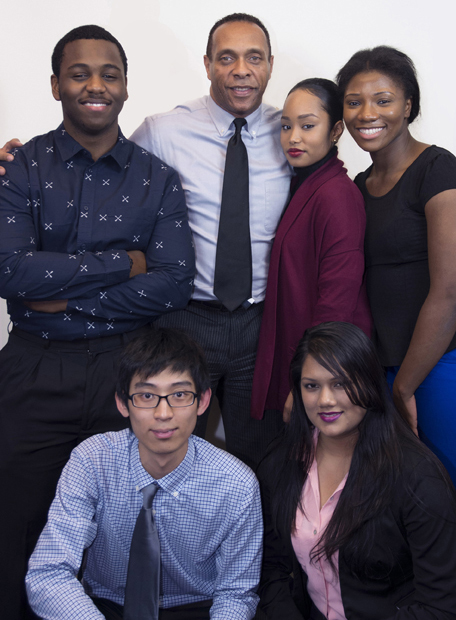 Students and alumni with CDI's Executive Director Michael A. Roberts.
